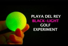 Playa Black Light Golf Experiment #1: Glow golf with headlamps